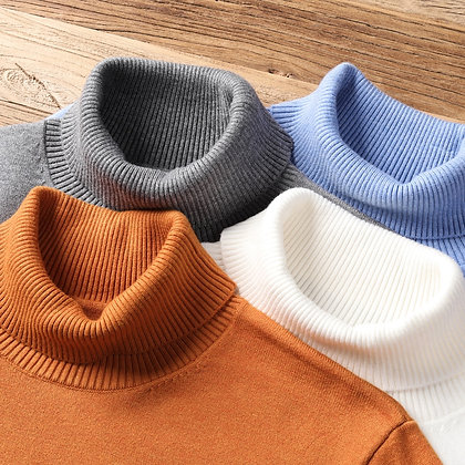Men's High Quality Turtleneck Sweater