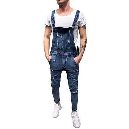 Casual Men Skinny High Quality Jean Jumpsuit
