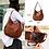 Thumbnail: Genuine Leather Multi-Colors Shoulder Bag