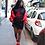 Thumbnail: Women's Dulzura Tower Letter Print Sweatshirt Dress W/ Long Sleeves