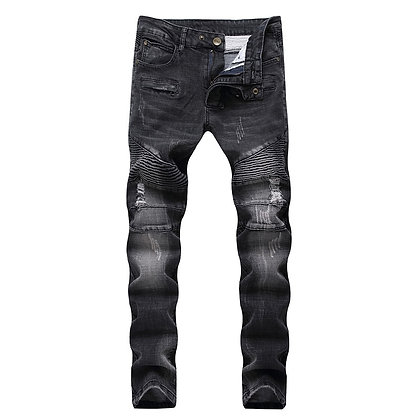 Ripped Jeans Men Fashion Patchwork Moto Jeans New 2020