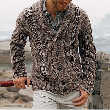 Men's Middle-Long Cardigan Sweater