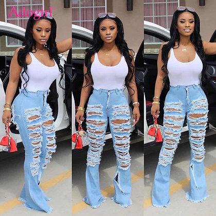 Adogirl Women's Denim Flare Jeans