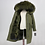Thumbnail: Women's Real Fox Fur Long Parka Waterproof W/ Big Raccoon Fur Collar & Hood Coat