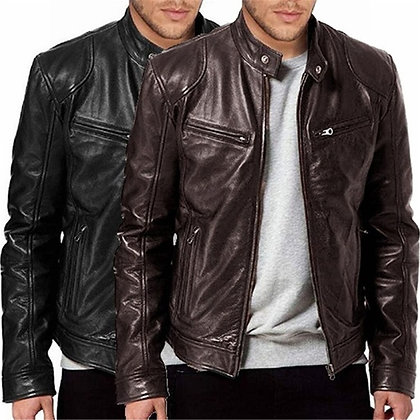Men's Vintage Motorcycle Style Jacket