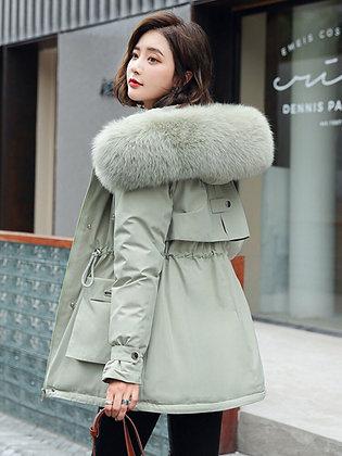 Women's Elegant Big Bubble Furry Hooded Parka Coat/Jacket in Plus Sizes too