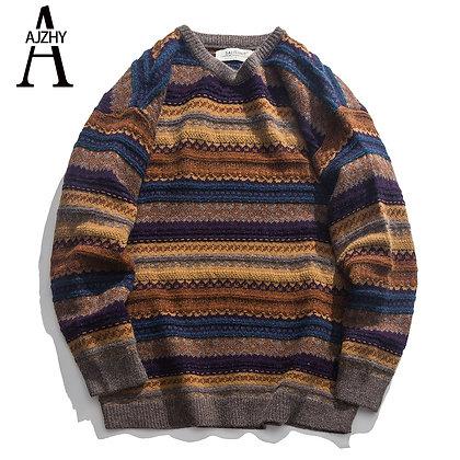 Men's Casual Striped Sweaters