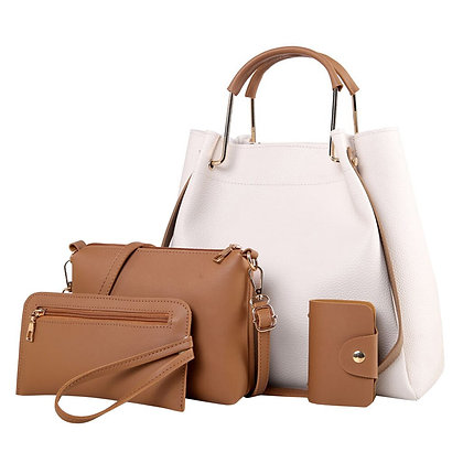 Elegant 4Pcs Shoulder, Handbag and Wallet set