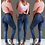 Thumbnail: Women's High Waist Slim Stretch Denim Jeans & Bodycon Tassel Bandage Belt