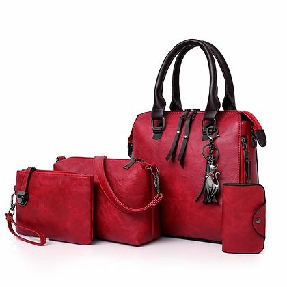 ValenKuci  Shoulder & Tote Bag 4pcs/Set