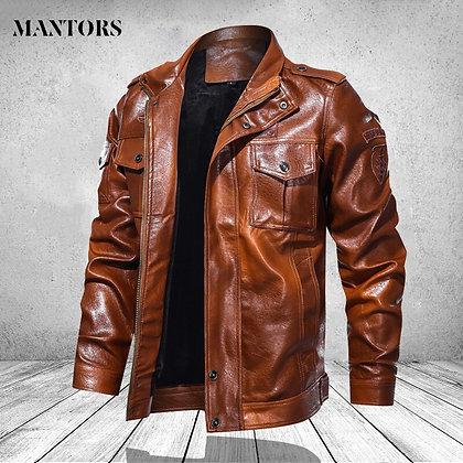 Men's Motorcycle PU Leather Jacket