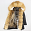 Thumbnail: OFTBUY Women's Long Parka Real Fox Fur Coat W/ Natural Raccoon Fur Collar