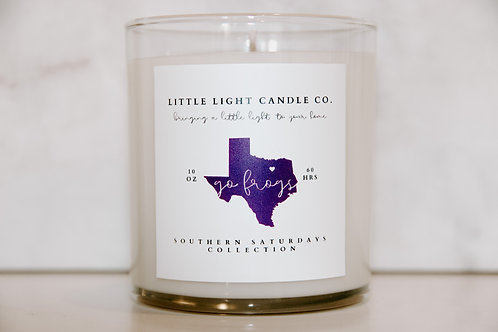 Go Frogs Candle