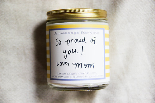 Stripe Message Candle