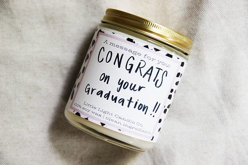 Dots and Spots Message Candle