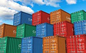 containers stacked for shipping