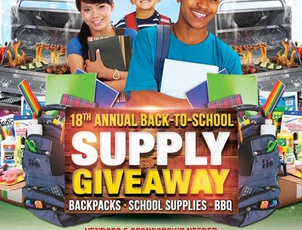 18th Annual School Supply Give Away