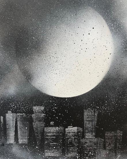 City under Moon.