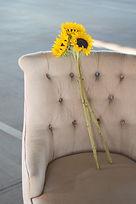 Fauteuil individuel, fleurs de tournesol