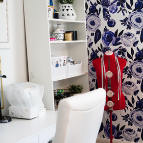 Sewing Room Makeover, Before and After