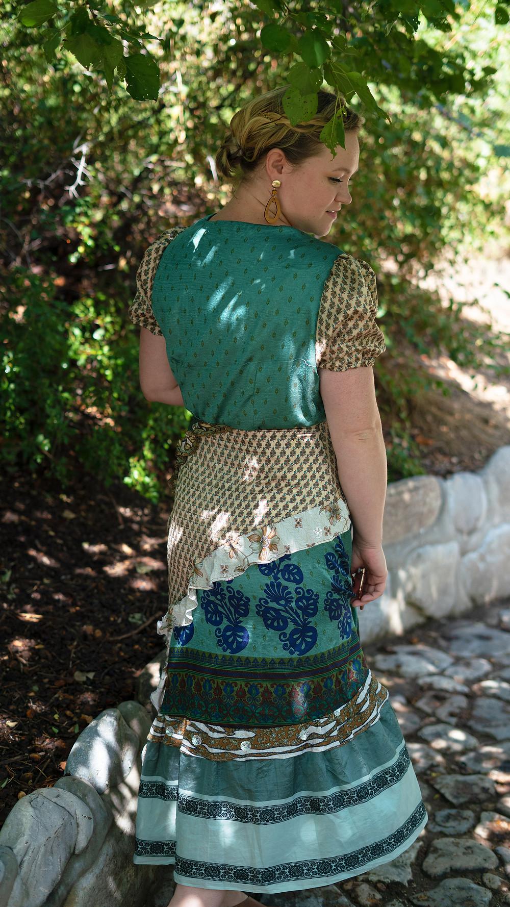 Making a Dress out of Recycled Sari Silk - Darn Good Yarn - #m7894