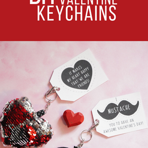 DIY Valentine Keychains with Free Printable Tags
