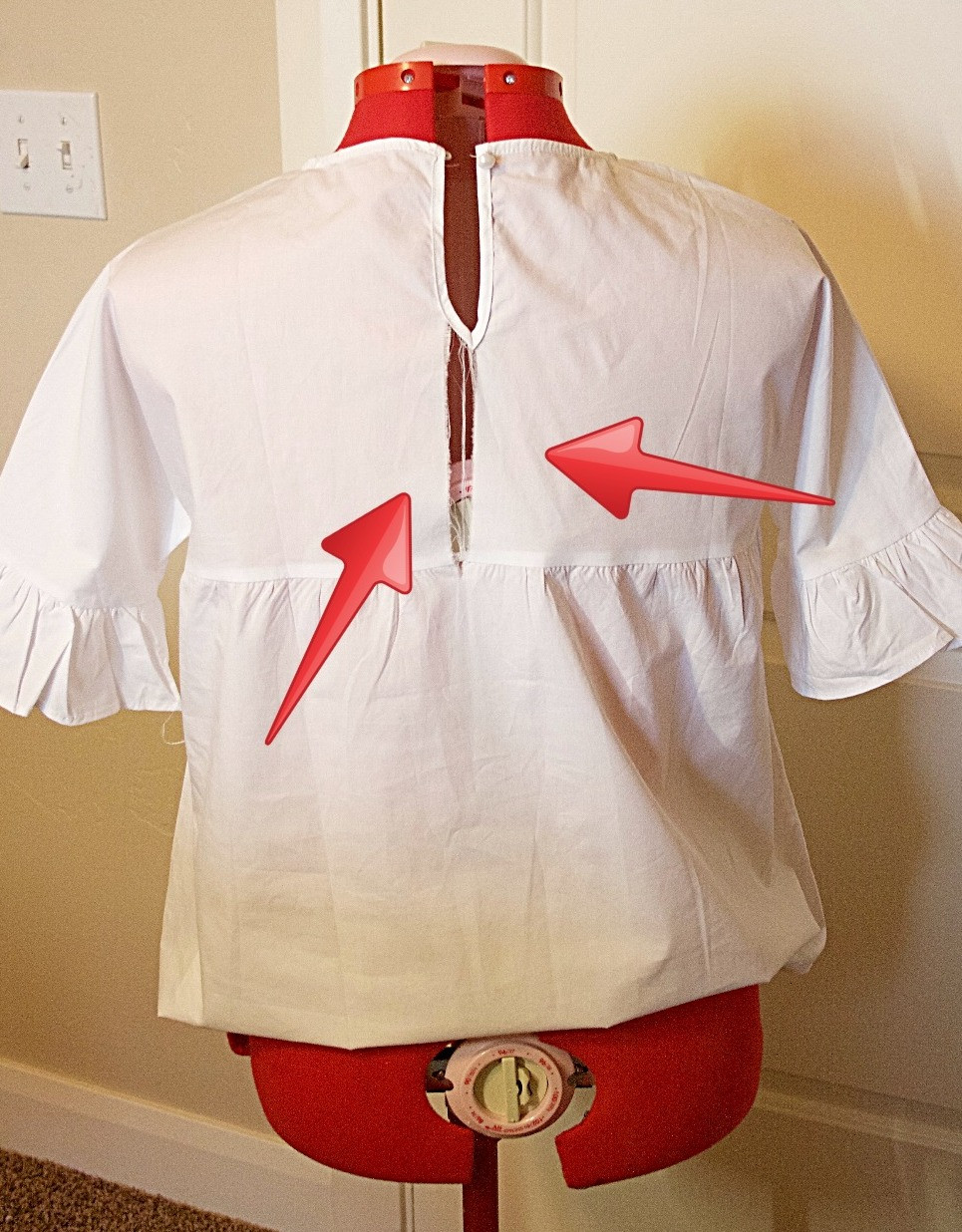 Refashion a shirt that is too small or ripped
