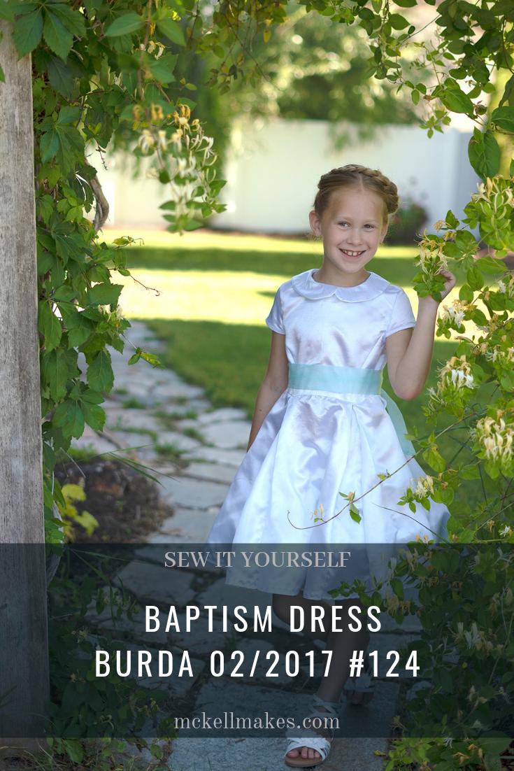 Baptism Dress using Burda 02/2017 #124