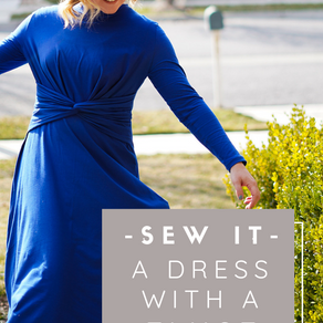 Royal Blue Burda Dress with a Twist