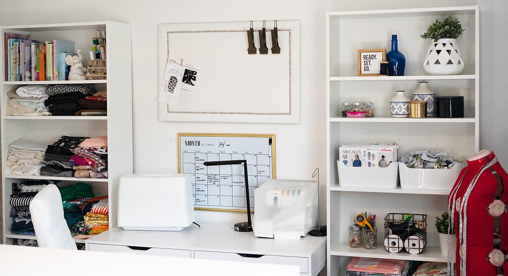 Sewing Craft room Makeover Before and After