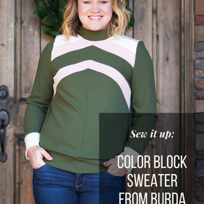 Structured  Color Block Sweater (Burda 09/2016 #124)