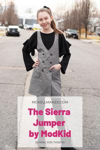 The Sierra Jumper by ModKid Sewing Pattern Review for Girls Teens Tweens Kids
