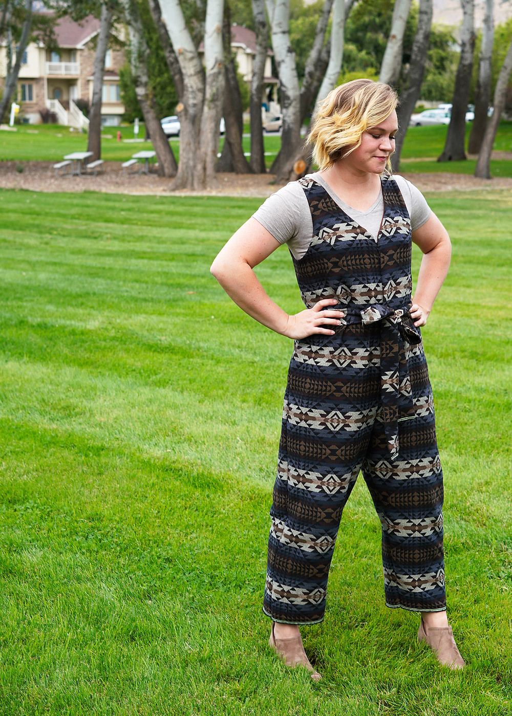 Peppermint Jumpsuit Pattern Review by In the Folds