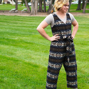 Free Pattern Review: The Peppermint Jumpsuit by In the Folds