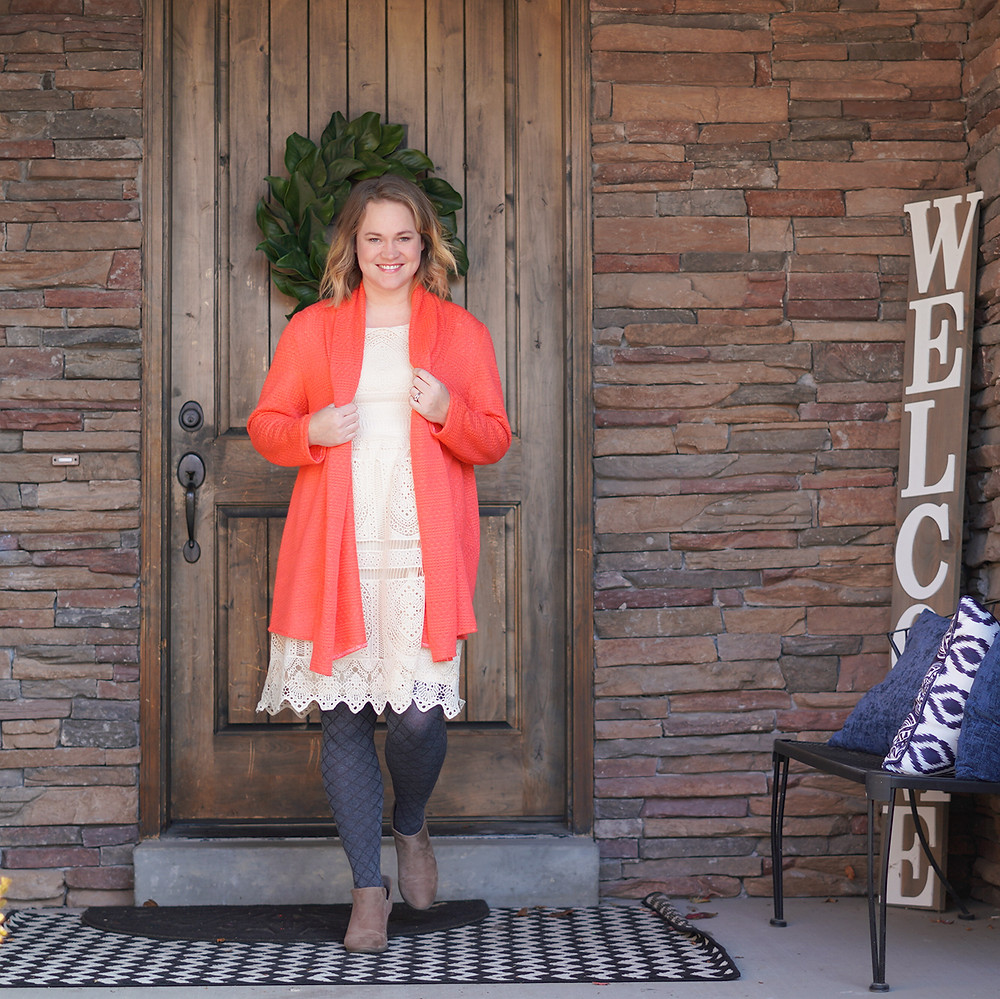 McCall's 6084 One Hour Cardigan Coral