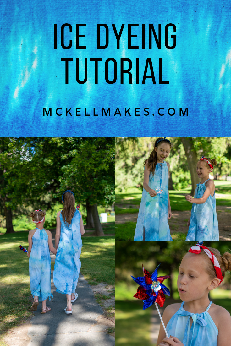 Ice Dyeing Tutorial for the 4th of July