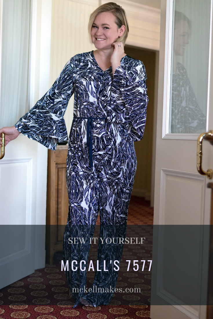 McCall's 7577 - Jumpsuit with Double Bell Sleeves