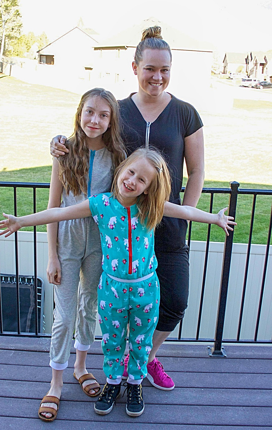 Cute and comfy jumpsuits to sew for mom and girls