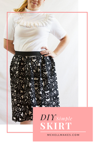 DIY Simple Skirt Sewing Instructions and Freya Top With Ruffles