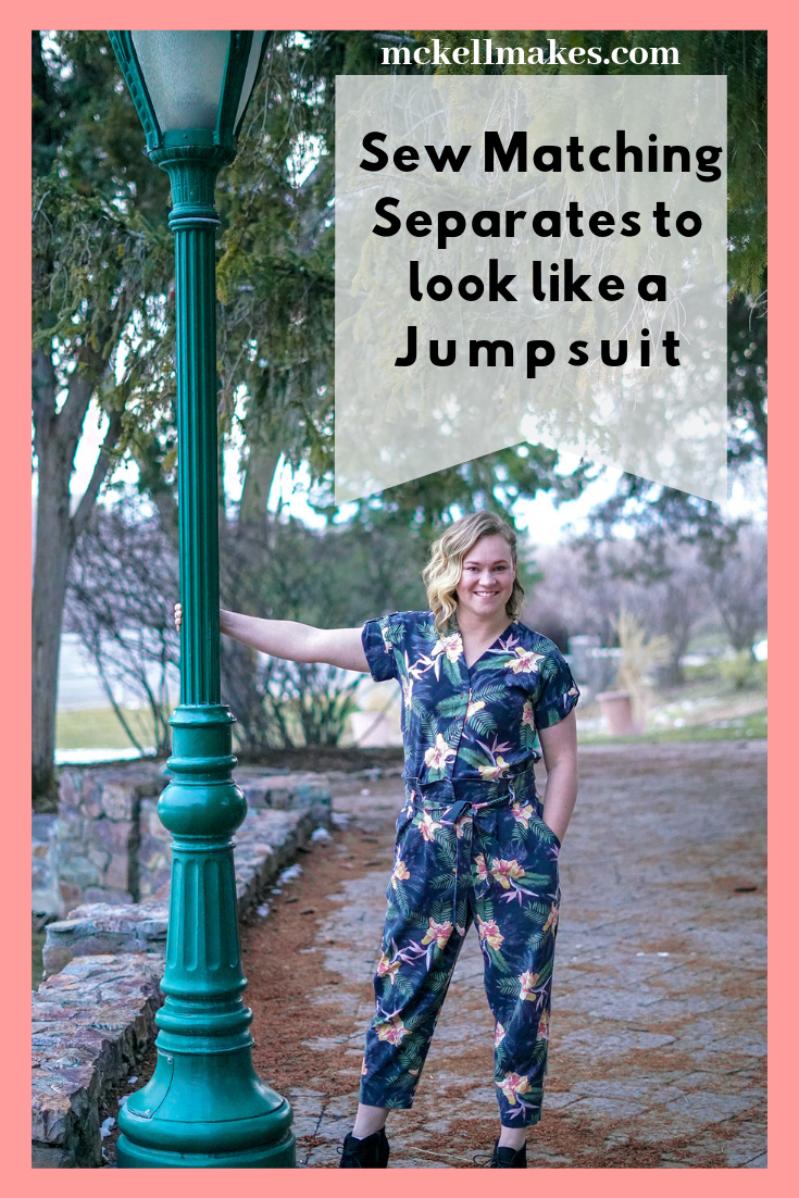 Sew Matching Separates to look like a Jumpsuit Sewing Women Pattern