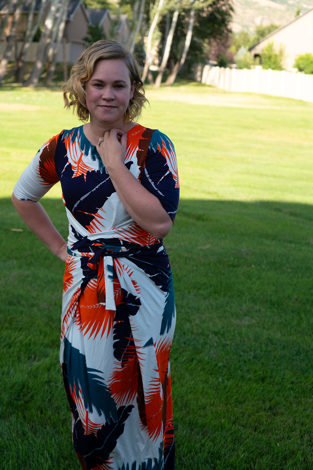 Sewing Pattern Review for the Kielo Wrap Dress by Named Clothing