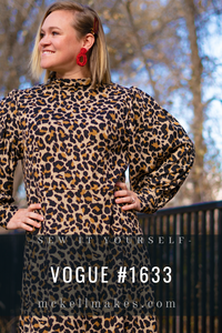 vogue #1633 leopard print sweater dress