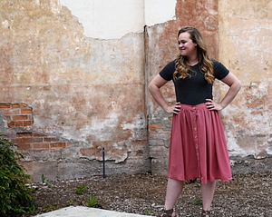 My thoughts on sewing up the Zinnia Skirt by Colette Patterns