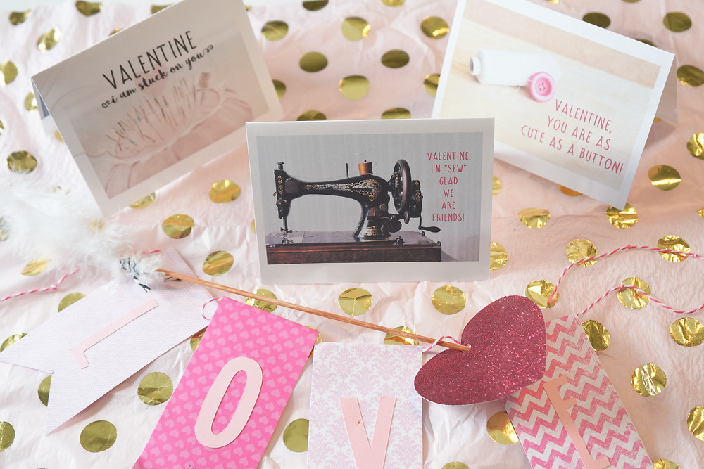 Free Sewing Valentine Day Cards Printables