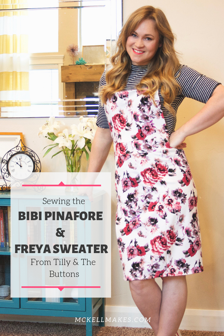 Sewing the Bibi Pinafore and Freya Sweater from Tilly and the Buttons Stretch Book