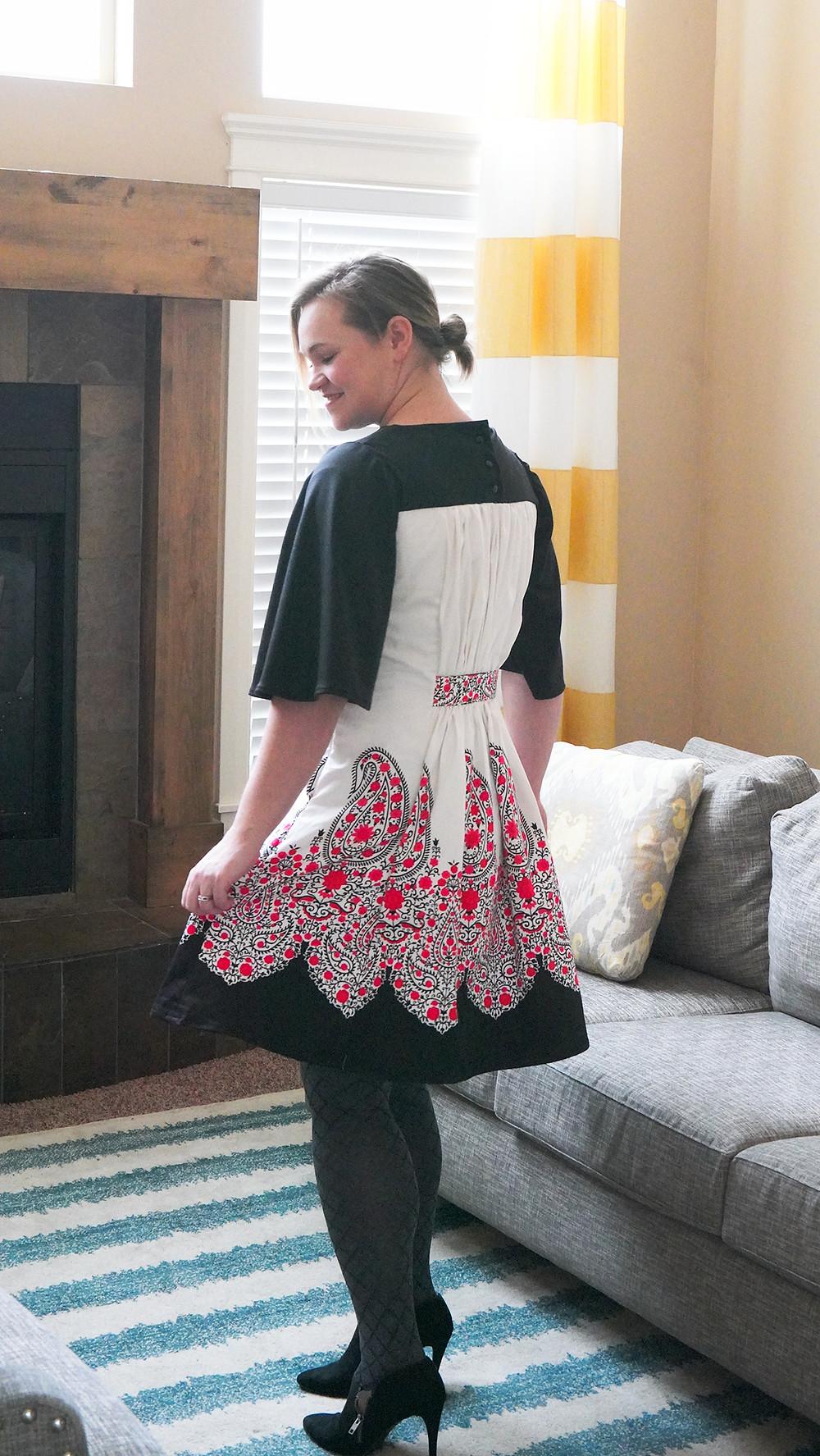 Sewing Burda Frills Dress 12/2015 #122A Valentine's Day Dress