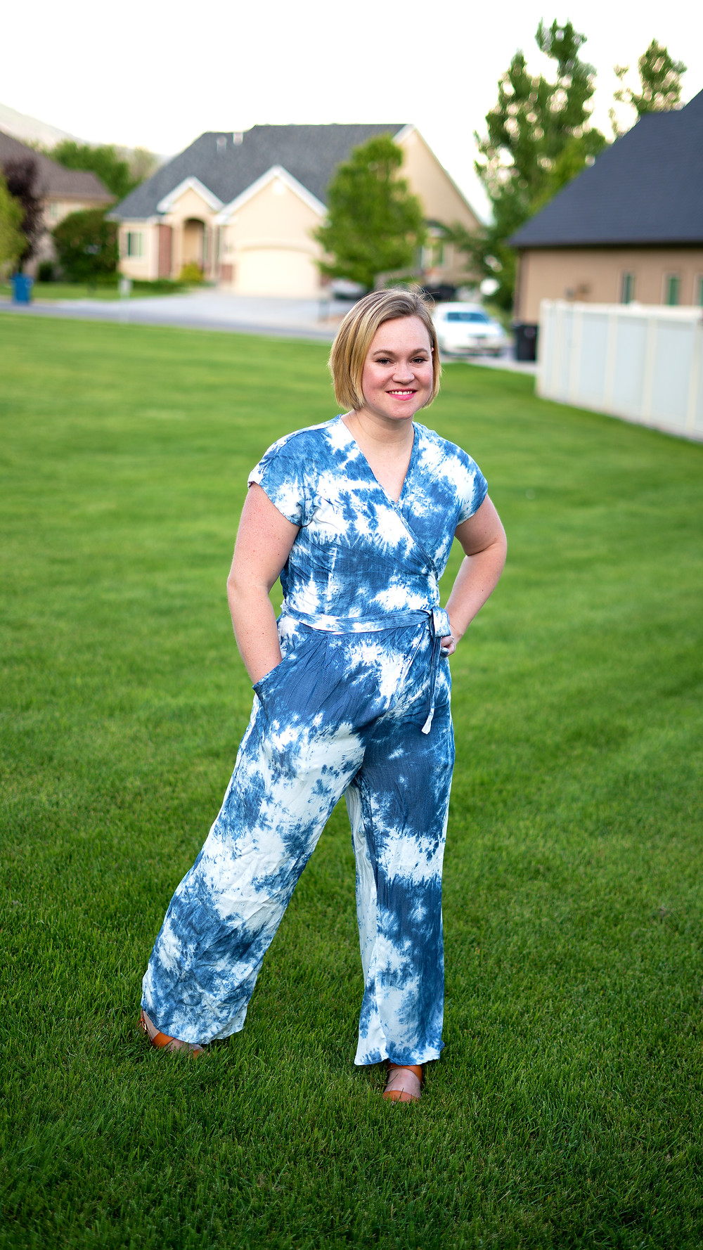 Zadie Jumpsuit by Paper Theory - Summer Sewing Collection - Blue Tie Dye