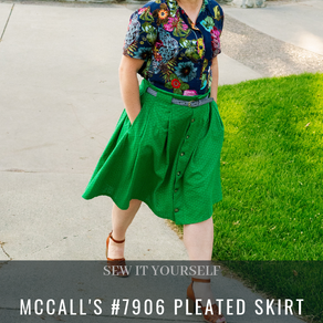 A Dynamic Duo - McCall's #7906 Pleated Skirt and the Natalie Shirt by Seamwork