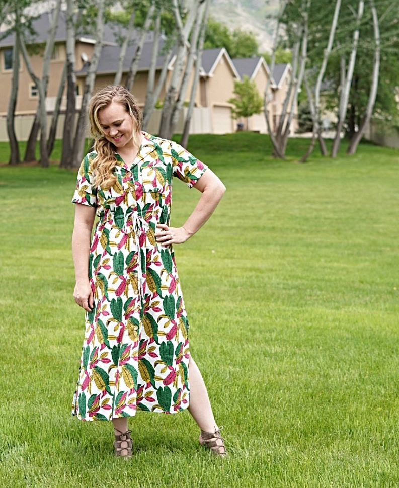 Sewing Review for the Reeta Midi Dress by Named Clothing