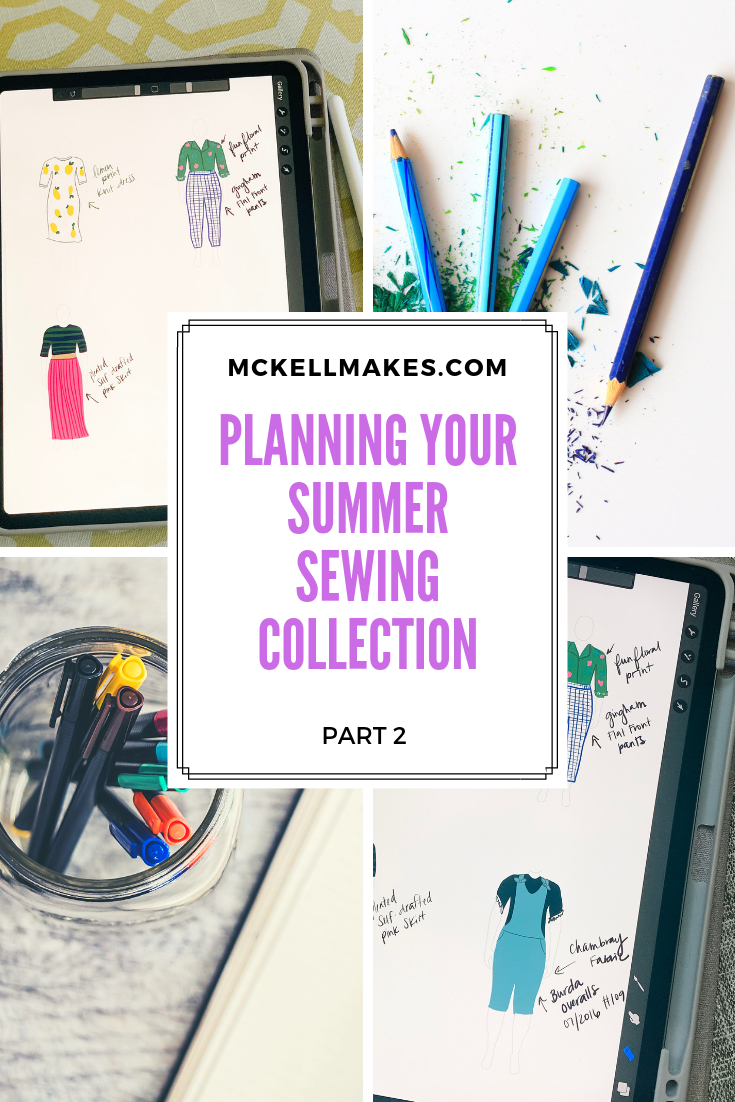 Part 2 - Planning your Summer Sewing Collection